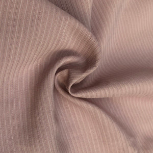 "58"" Cotton Lyocell Tencel Blend Striped Pink & White Woven Fabric By the Yard - APC Fabrics"