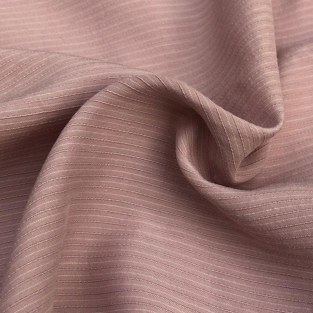 58 Cotton Lyocell Tencel Blend Striped Pink & White Woven Fabric By the Yard - Fabric