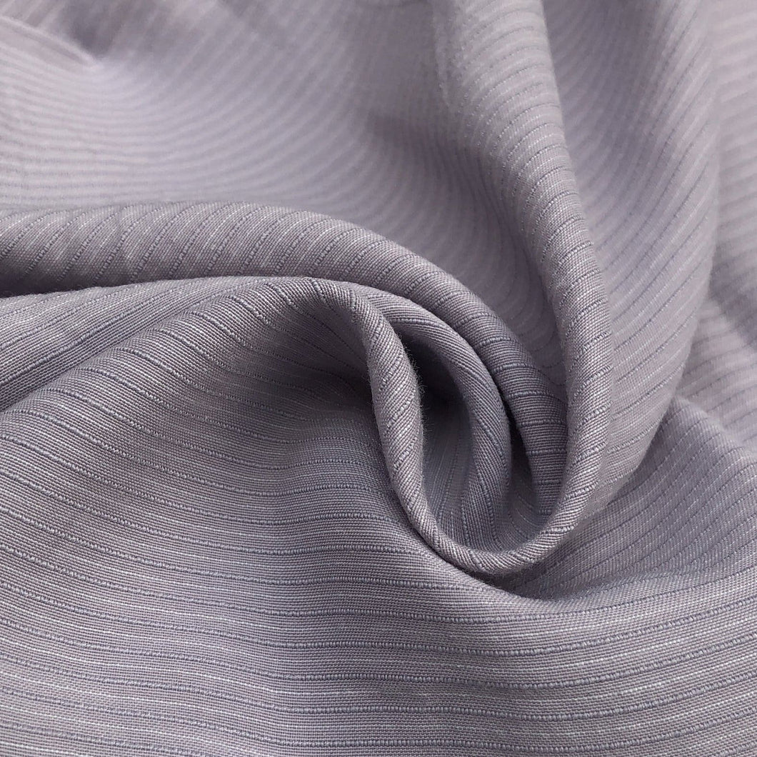 58 Cotton Lyocell Tencel Blend Striped Purple & White Woven Fabric By the Yard - Fabric