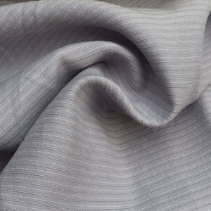 "58"" Cotton Lyocell Tencel Blend Striped Purple & White Woven Fabric By the Yard - APC Fabrics"