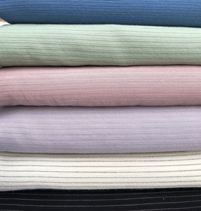 "58"" Cotton & Tencel Lyocell Blend Striped Multicolor Light Woven Fabric By the Yard - APC Fabrics"