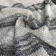 "Load image into Gallery viewer, 58"" Dark & Light Gray Striped 100% Acrylic Sweater Heavy Knit Fabric By the Yard - APC Fabrics"