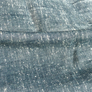 58 Linen Cotton Cross Dyed & Two Toned Gray Navy Blue Woven Fabric By the Yard