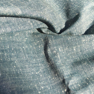 "58"" Linen Cotton Cross Dyed & Two Toned Gray Navy Blue Woven Fabric By the Yard - APC Fabrics"