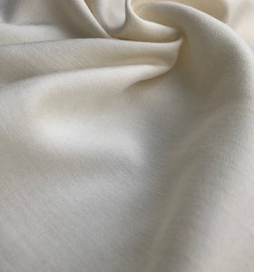 58 PFD Off White Merino Lyocell Tencel Wool Blend Woven Fabric By the Yard