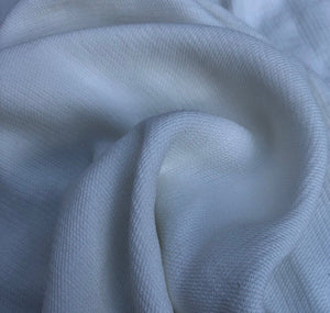 58 PFD White 100% Tencel Lyocell Faille Ghost Woven Fabric By the Yard