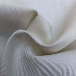 "58"" PFD White Greige Goods 100% Rayon Faille Ghost Woven Fabric By the Yard - APC Fabrics"