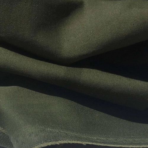 58 Pima Cotton Stretch Twill Medium Weight Dark Olive Green Woven Fabric By the Yard - Fabric