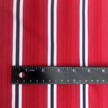 "Load image into Gallery viewer, 58"" Red Black & White Coral Snake Striped Spandex Blend Knit Fabric By the Yard - APC Fabrics"