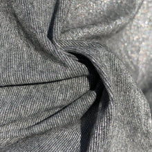"Load image into Gallery viewer, 58"" Shiny Glitter Gray Grey 100% Acetate Lame Metallic Woven Fabric By the Yard - APC Fabrics"