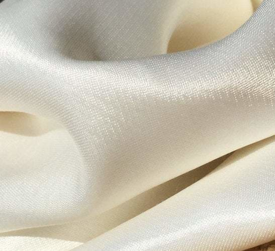 58 White 100% Lyocell Tencel Satin Light Weight Woven Fabric By the Yard