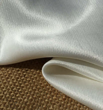 "Load image into Gallery viewer, 58"" White 100% Lyocell Tencel Satin Light Weight Woven Fabric By the Yard - APC Fabrics"