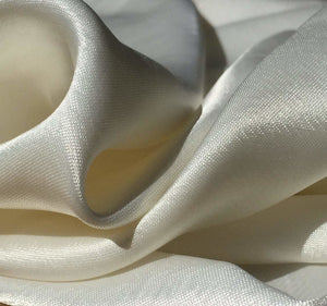 "58"" White 100% Lyocell Tencel Satin Light Weight Woven Fabric By the Yard - APC Fabrics"