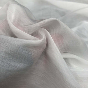 58 White 100% Supima Cotton See Through Sheer & Light Woven Fabric By the Yard