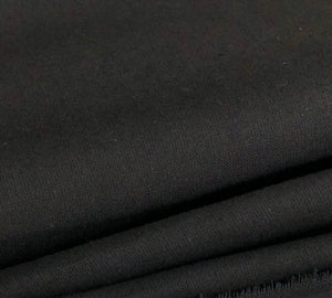 "60"" 100% Cotton 5 OZ Sheeting Jet Black Woven Face Mask Fabric By the Yard - APC Fabrics"