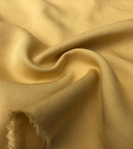 "60"" Banana Yellow 100% Lyocell Tencel Gabardine Twill Woven Fabric By The Yard - APC Fabrics"