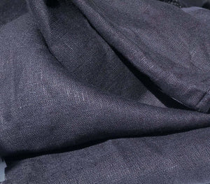 "60"" Dark Navy Blue 100% Lithuanian Linen Medium Woven Fabric By the Yard - APC Fabrics"