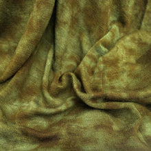 Load image into Gallery viewer, 60 Dark Olive Green Modal Spandex Blend Tie Dyed Jersey Knit Fabric By the Yard