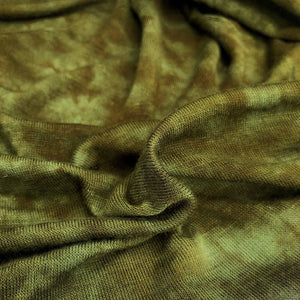 60 Dark Olive Green Modal Spandex Blend Tie Dyed Jersey Knit Fabric By the Yard