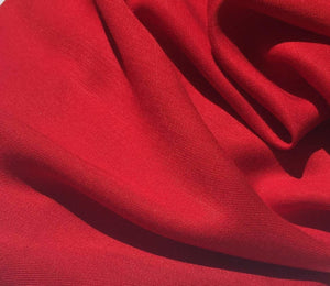 60 Firetruck Red 100% Lyocell Tencel Gabardine Twill Woven Fabric By the Yard