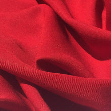 Load image into Gallery viewer, 60 Firetruck Red 100% Lyocell Tencel Gabardine Twill Woven Fabric By the Yard