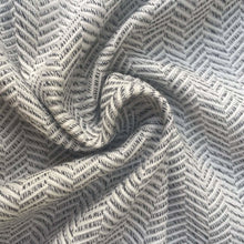 Load image into Gallery viewer, 60 Gray & White 100% Rayon Herringbone Double Faced Woven Fabric By the Yard