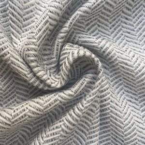 60 Gray & White 100% Rayon Herringbone Double Faced Woven Fabric By the Yard