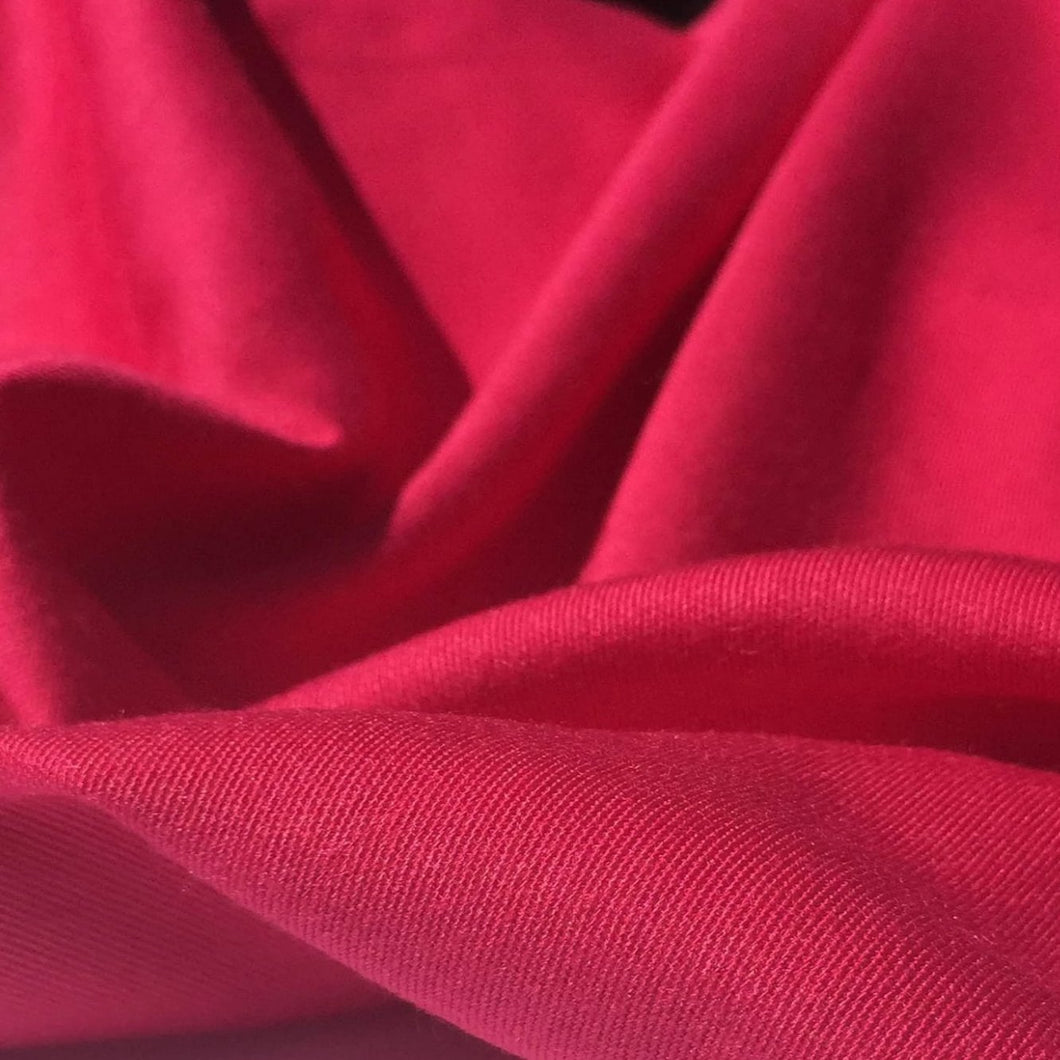60 Hot Pink 100% Lyocell Tencel Gabardine Twill Woven Fabric By the Yard