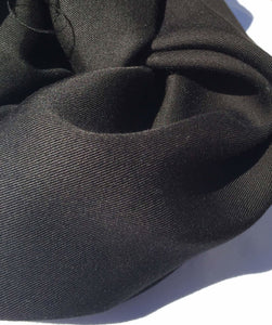 "60"" Jet Black 100% Lyocell Tencel Gabardine Twill Woven Fabric By the Yard - APC Fabrics"