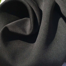 "Load image into Gallery viewer, 60"" Jet Black 100% Lyocell Tencel Gabardine Twill Woven Fabric By the Yard - APC Fabrics"