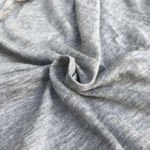 "Load image into Gallery viewer, 60"" Modal Cotton Blend Solid Heather Gray Jersey Knit Fabric By the Yard - APC Fabrics"