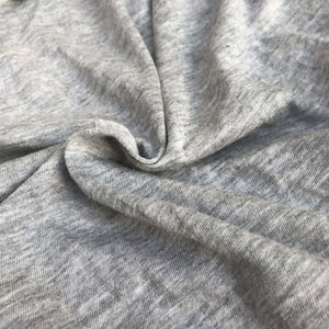 "60"" Modal Cotton Blend Solid Heather Gray Jersey Knit Fabric By the Yard - APC Fabrics"