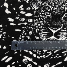 "Load image into Gallery viewer, 60"" Modal Spandex Jaguar Skull Skeleton Print Jersey Knit Fabric By the Yard - APC Fabrics"