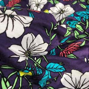 60 Multicolor Modal Spandex Lycra Stretch Blend Floral Print Jersey Knit Fabric By the Yard - Fabric