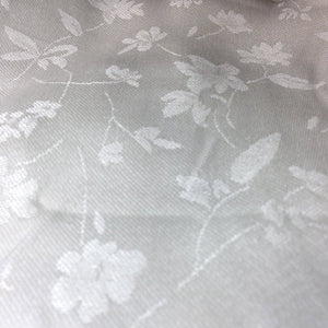 60 PFD White Lyocell Tencel Satin Floral Jacquard Woven Fabric By the Yard