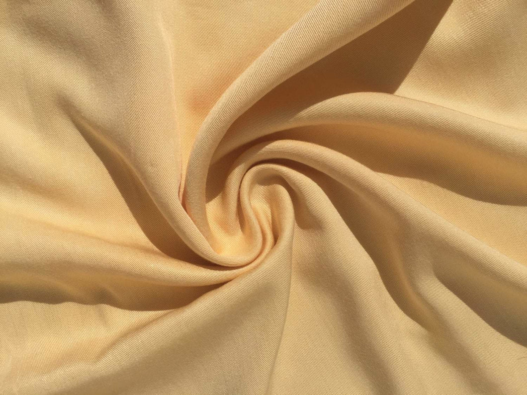 60 Pineapple Yellow 100% Lyocell Tencel Gabardine Twill Woven Fabric By Yard