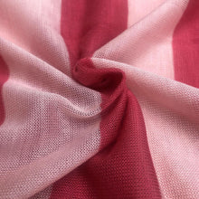 Load image into Gallery viewer, 60 Pink Striped Low Gauge 100% Polyester Yarn Dyed Knit Fabric