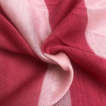 "Load image into Gallery viewer, 60"" Pink Striped Low Gauge 100% Polyester Yarn Dyed Knit Fabric By the Yard - APC Fabrics"
