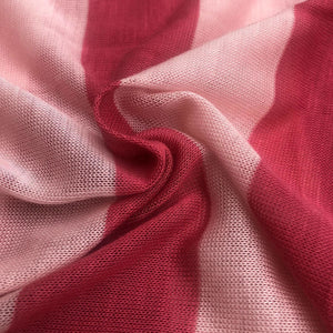 "60"" Pink Striped Low Gauge 100% Polyester Yarn Dyed Knit Fabric By the Yard - APC Fabrics"