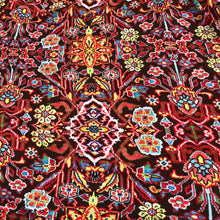 Load image into Gallery viewer, 60 Rayon Spandex Blend Multicolor Red Floral Print Jersey Knit Fabric By Yard - Fabric