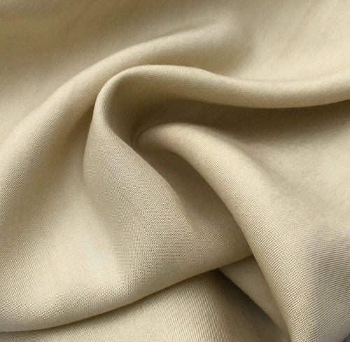 60 Straw Beige 100% Lyocell Tencel Gabardine Twill Medium Woven Fabric By Yard