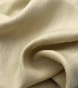 "60"" Straw Beige 100% Lyocell Tencel Gabardine Twill Medium Woven Fabric By Yard - APC Fabrics"