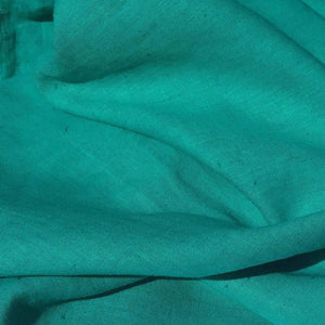 "60"" Teal Blue Lyocell Tencel Linen Blend Woven Fabric By the Yard - APC Fabrics"