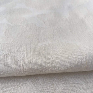 "60"" Ivory Cotton Rayon Blend Floral Jacquard Medium Woven Fabric By the Yard - APC Fabrics"
