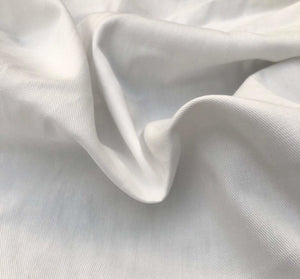 "60"" White 100% Organic Cotton Twill Woven Fabric By the Yard - APC Fabrics"