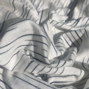 62 100% Modal Slob White & Black Tiger Striped Yarn Dyed Jersey Knit Fabric By the Yard