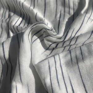 "62"" 100% Modal Slob White & Black Tiger Striped Jersey Knit Fabric By the Yard - APC Fabrics"