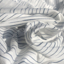 "Load image into Gallery viewer, 62"" 100% Modal Slob White & Black Tiger Striped Jersey Knit Fabric By the Yard - APC Fabrics"