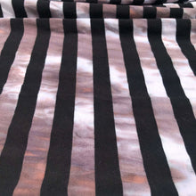 Load image into Gallery viewer, 62 Black White Striped Tie Dye 100% Cotton Yarn Dyed Jersey Knit Fabric By the Yard