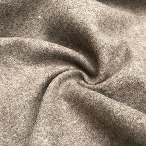 "62"" Camel Beige 100% Wool Heavy Woven Fabric By the Yard - APC Fabrics"